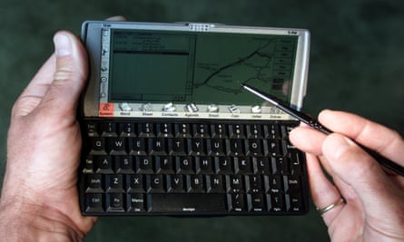The Psion series of PDAs were absolute classics.