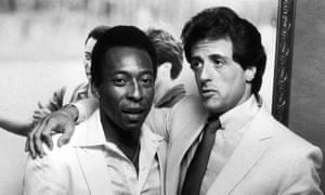 Pelé, pictured left with Sylvester Stallone