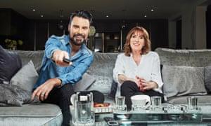 Sofa so good … Rylan and his mum.
