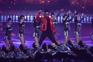 Mumbai, India: Bollywood actor Vicky Kaushal performs on stage during the 20th International Indian Film Academy Awards