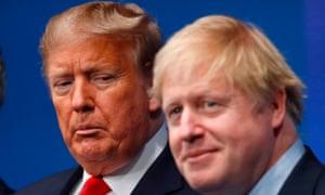Boris Johnson joins Donald Trump at the Nato summit in Watford on Wednesday.