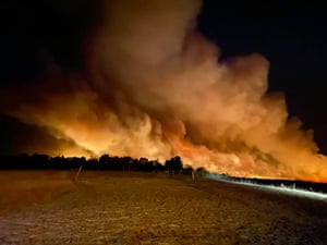 Bushfires north of Perth on Tuesday