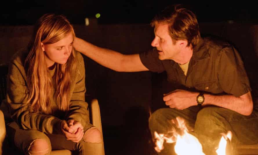 Disquieting … Elsie Fisher and Josh Hamilton.