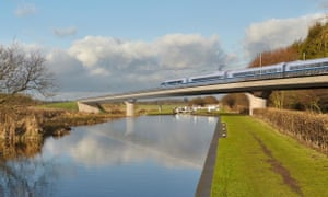 Artist's impression of HS2 train