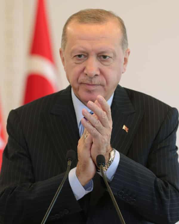Turkey's president Recep Tayyip Erdoğan.