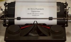Pratchett's typewriter.