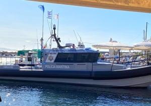 The Molivos, a Portuguese Frontex boat