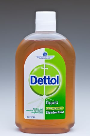 Bottle of Antiseptic Dettol liquid disinfectant