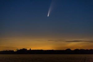 Neowise seen from Hoxne in Suffolk, England
