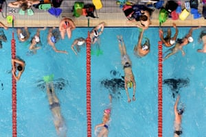 Swimmers training in Adelaide, Australia, before trials for the Tokyo Olympics and Paralympics