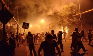 In an attempt to disperse crowds police threw grenades in the direction of protesters on the night of the 29 July. 4plus say that the explosions caused widespread panic and injury.