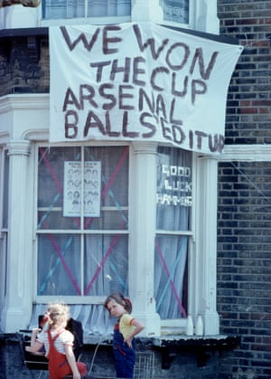 A house in East London after their team won the FA Cup Final on May 11, 1980 in East Ham, London, England