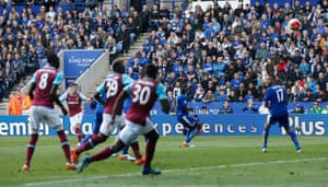Cresswell launches a left foot screamer from outside the area.