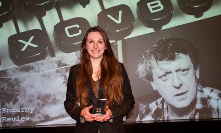 Winner Leah Broad at last week's Observer/Anthony Burgess prize ceremony.