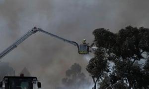 Fire crew on the job