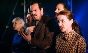 'Exhilarating': the cast of Shrapnel at the Scottish Storytelling Centre, Edinburgh.
