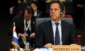 Mark Rutte at the EU-Arab summit in Sharm El Sheikh