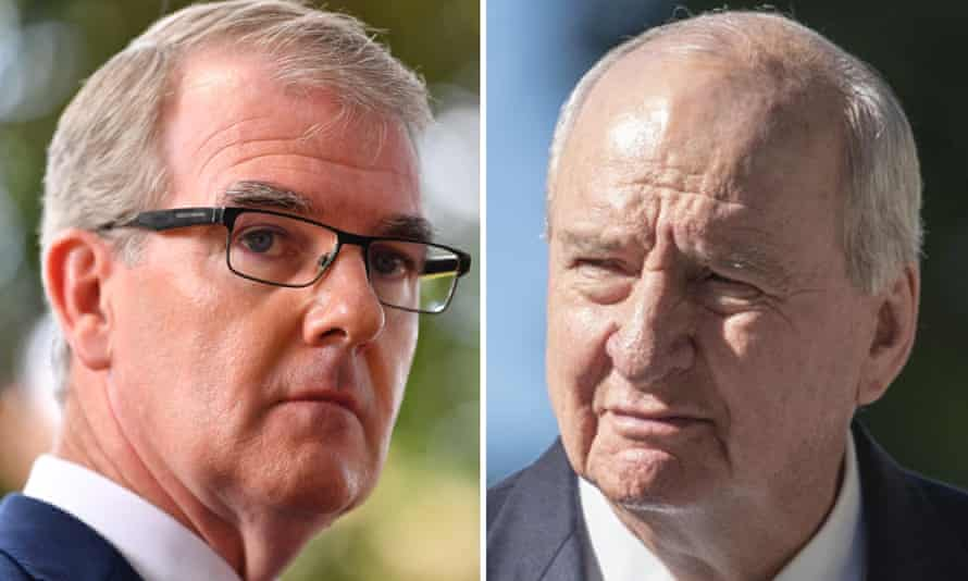 Alan Jones and Michael Daley have clashed over the plan to rebuild Allianz Stadium, with the NSW Labor leader vowing to sack the SCG trust's board.