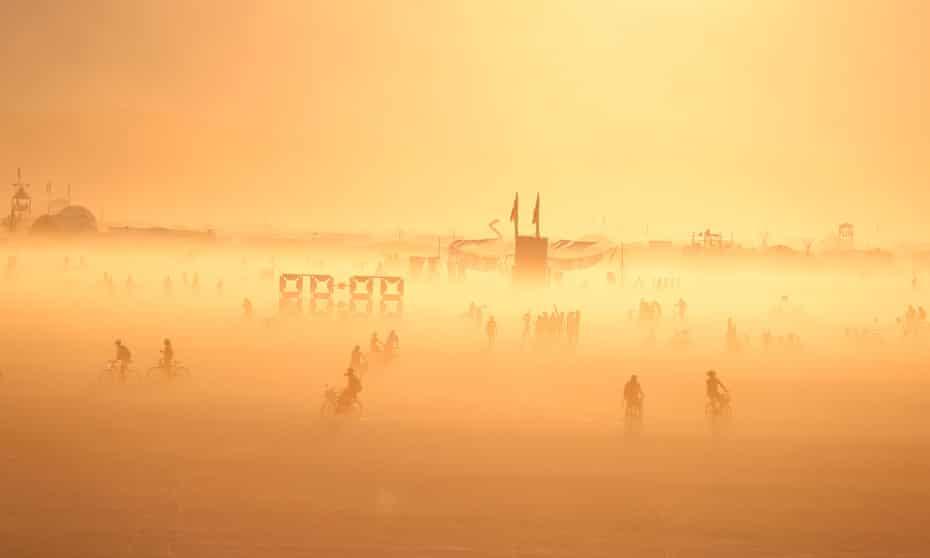 The Burning Man festival in the Black Rock desert of Nevada.