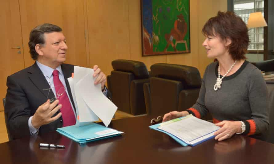Dame Anne Glover with Jose Manuel Barroso when she was chief scientific adviser to the European Commission.