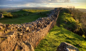 Hadrian's Wall at Walton's Crags, Northumberland.