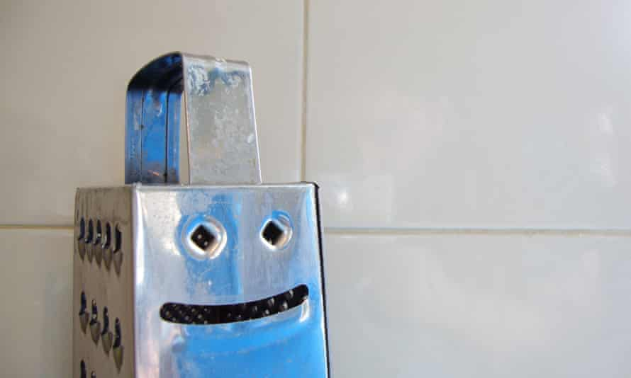 A happy grater in the kitchen