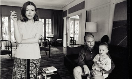Joan Didion with her husband and daughter