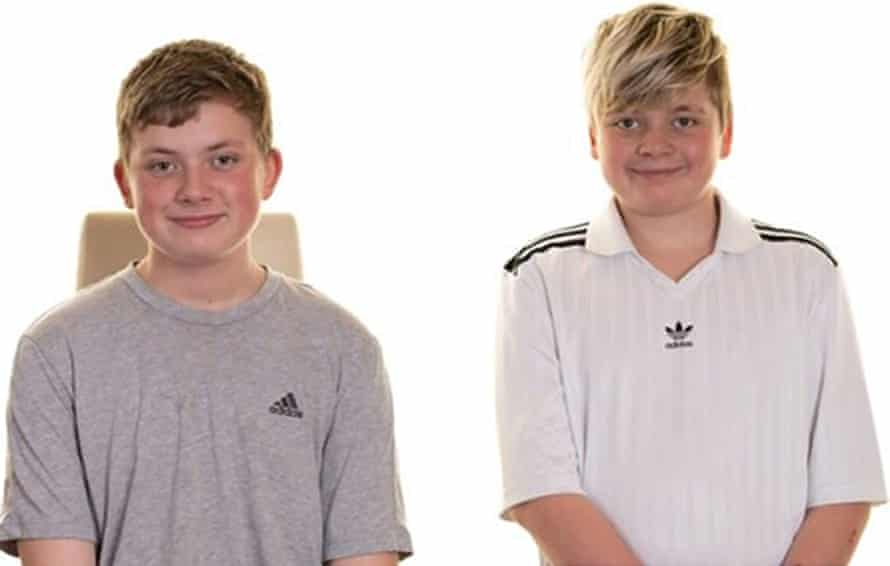 Photo issued by South Yorkshire Police of Tristan and Blake Barrass, aged 13 and 14.