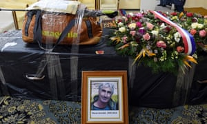 A memorial to Herve Gourdel, a French mountain guide who was kidnapped and beheaded in Algeria.