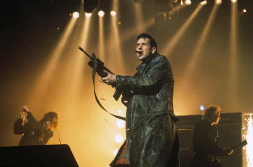 Ready for a dead sheep? … the KLF's Bill Drummond at the 1992 Brit awards.