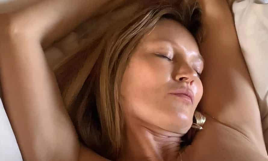 A still from Kate Moss's non-fungible token, Sleep With Kate.