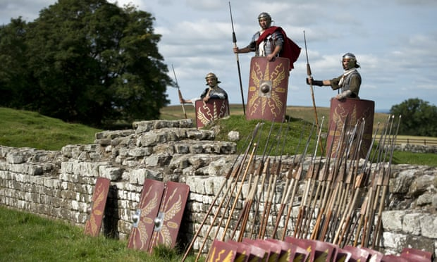 Reenactors at Hadrian's Wall: it is believed up to 1,000 soldiers lived at the 2nd-century garrison.