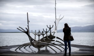 The Sun Voyager sculpture in Reykjavik.