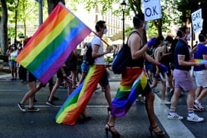 Rainbows at Alternative Pride in Madrid in June.
