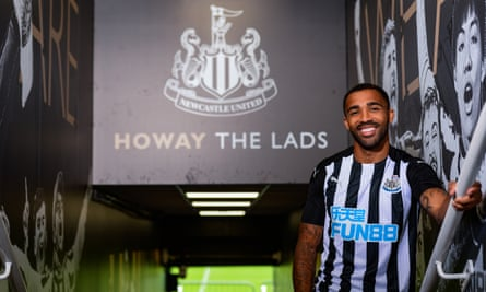 Callum Wilson poses in the Newcastle United kit: 'It's a massive club with great history.'