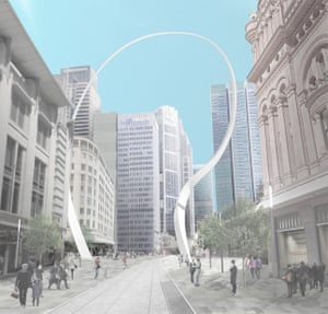 The planned Sydney Cloud Arch.
