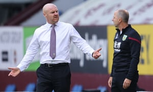 Sean Dyche on the touchline, where he is 'briskly aggressive but largely polite'.