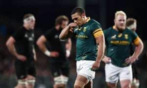 Bryan Habana reacts after South Africa were thrashed by the All Blacks