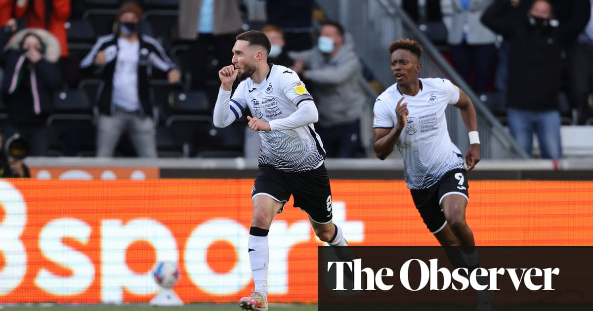 Matt Grimes' sweet strike takes Swansea past Barnsley and into play-off final