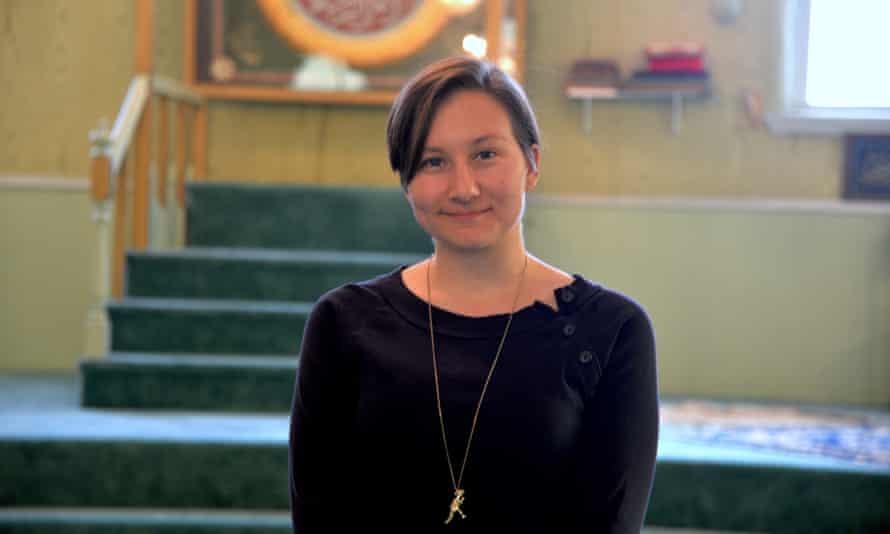 Alyssa Haughwout, the caretaker at the Brooklyn's historic Lipka Tatar mosque.