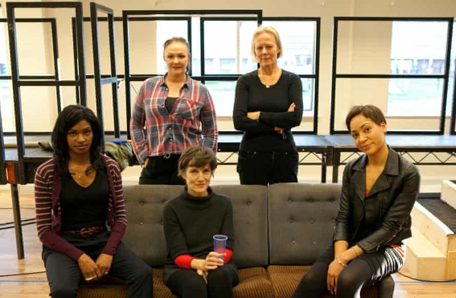'Friends, Romans, countrymen' … The Julius Caesar team, left to right: Jenny Jules, Frances Barber, Harriet Walter, Phyllida Lloyd and Cush Jumbo.