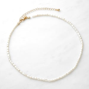 A delicate seed-pearl style necklace looks great layered. £16, urbanoutfitters.co.uk