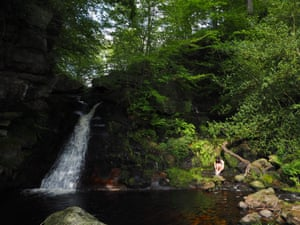 A waterfall in mid Wharfedale
