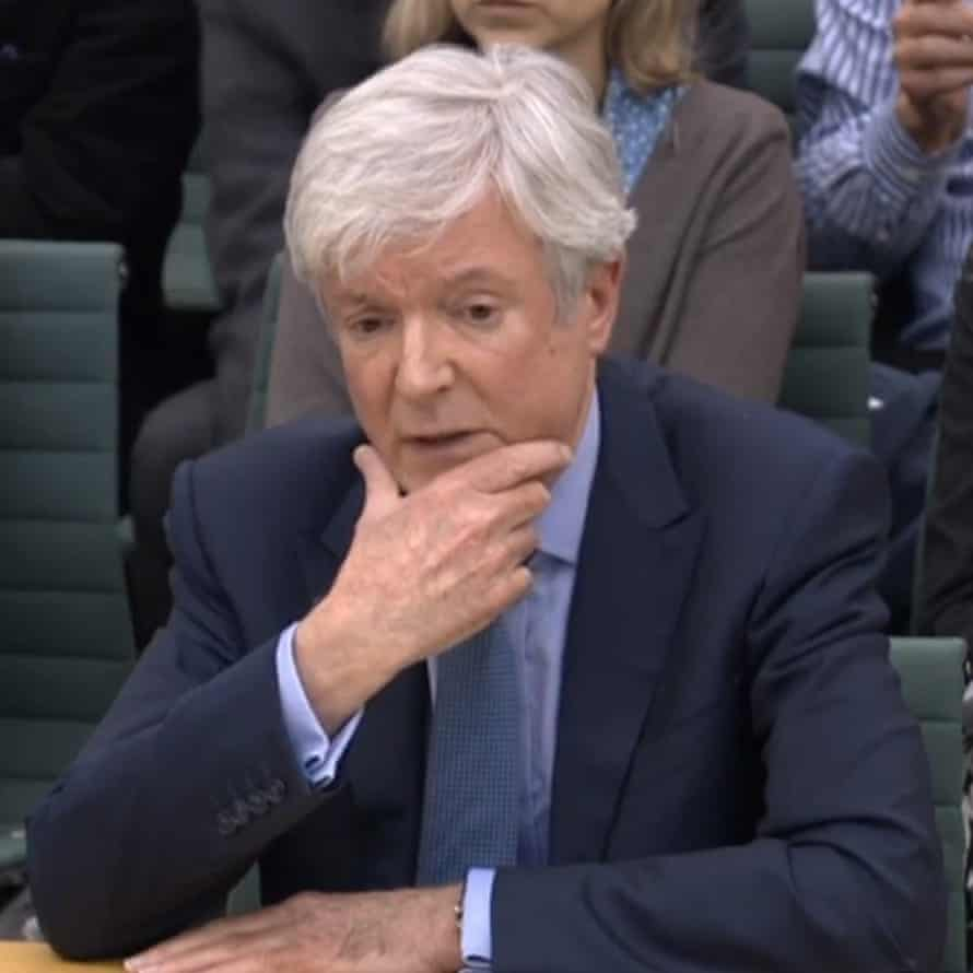 Director general of the BBC, Tony Hall, giving evidence to the digital, culture, media and sport committee on pay at the BBC in January 2018.