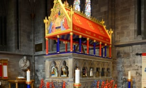 The shrine of St Thomas in Hereford Cathedral.