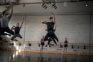 Sergei Polunin and his ballet company rehearsing Echo and Narcissus