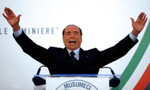 Silvio Berlusconi at an election rally in Catania earlier this month