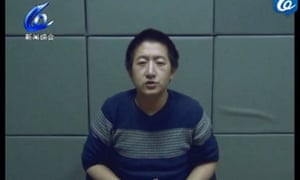 Zhang Kai, 36, appears on state-controlled TV in China to issue a 'confession. Zhang was was taken into secret detention in August 2015 after opposing a Communist party cross removal campaign.