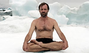 Ice man … Wim Hof, who swims in water so cold it would kill a normal person.