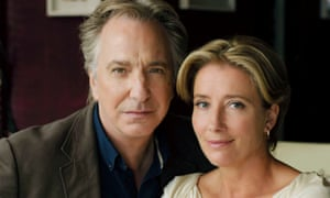 Alan Rickman and Emma Thompson in the BBC drama The Song of Lunch.